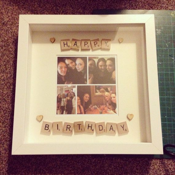 Happy birthday scrabble frame! Perfect pressie x