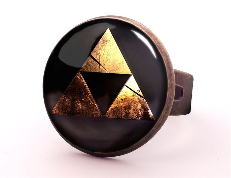ZELDA TRIFORCE Ring, Jewellery, 0531RB from EgginEgg by DaWanda.com