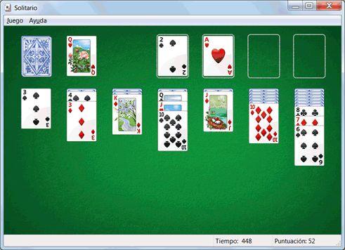 Juegos gratis de Windows 7: Solitario