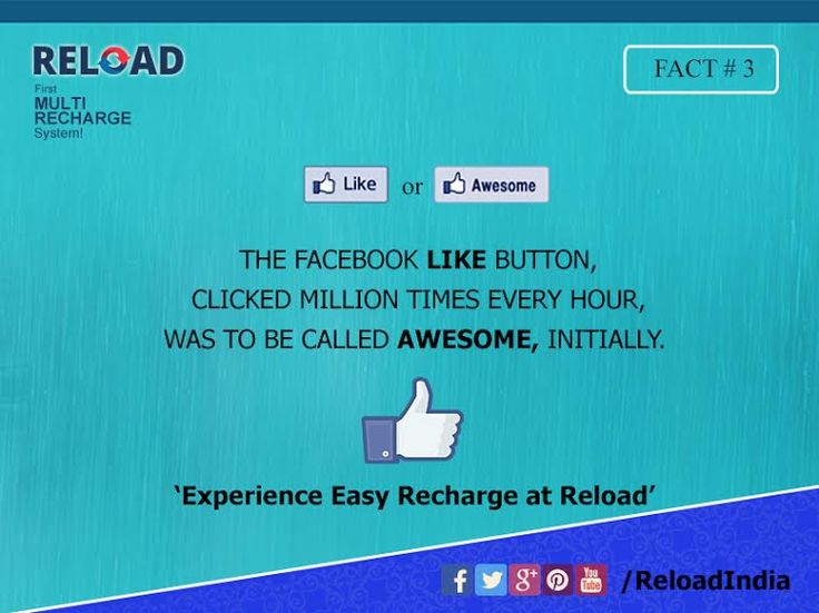 Which one do you prefer? 'Like' or 'Awesome' ? Let us know! Visit www.reload.in