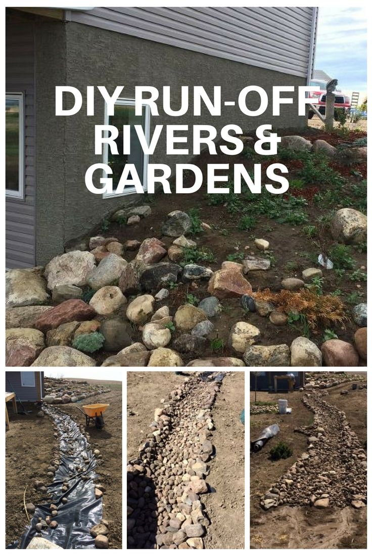 DIY Run-off Rivers and Gardens - Check out this amazing DIY backyard transformation!