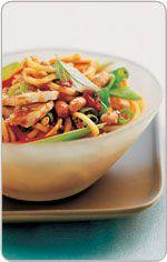 Hokkien noodles with lemon grass chicken