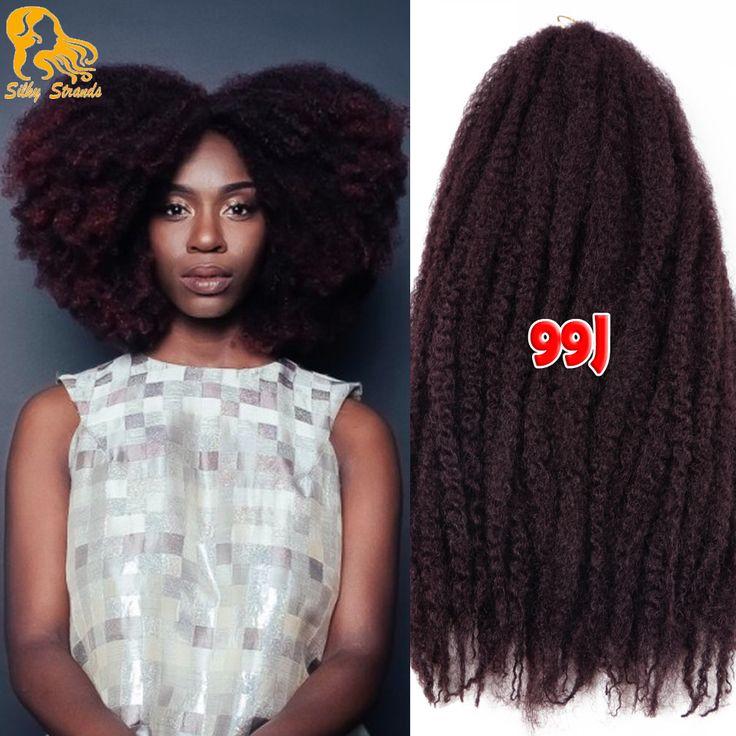 18 ''20 Wortels Marley Vlecht Haar Synthetische Afro Kinky Krullend Haak Hair Extensions Goedkope Ombre Marley Twist Haar Gehaakte vlechten