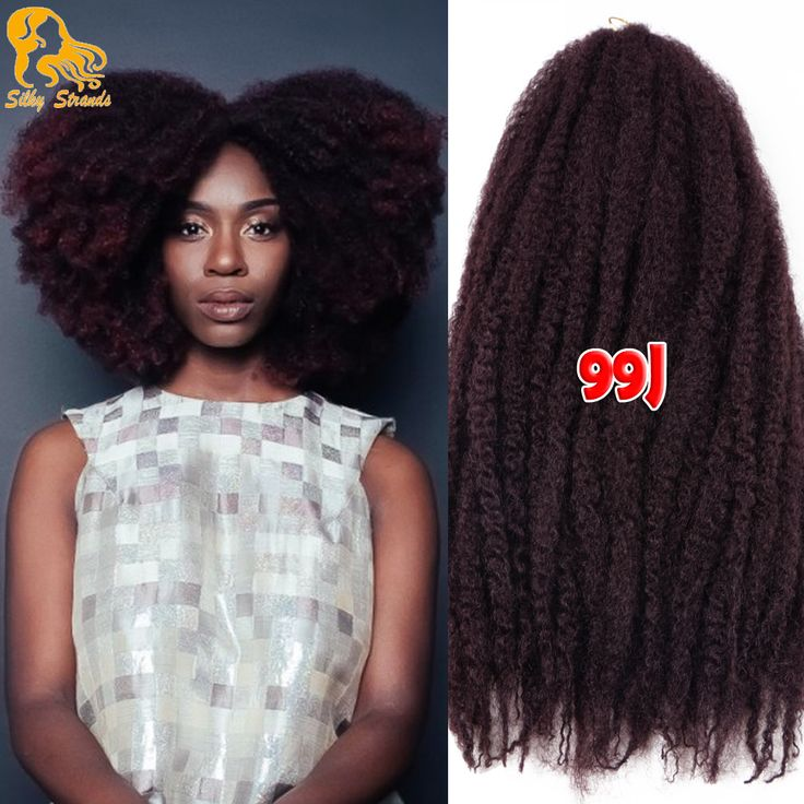 18'' 20Roots Marley Braid Hair Synthetic Afro Kinky Curly Crochet Hair Extensions Cheap Ombre Marley Twist Hair Crochet Braids