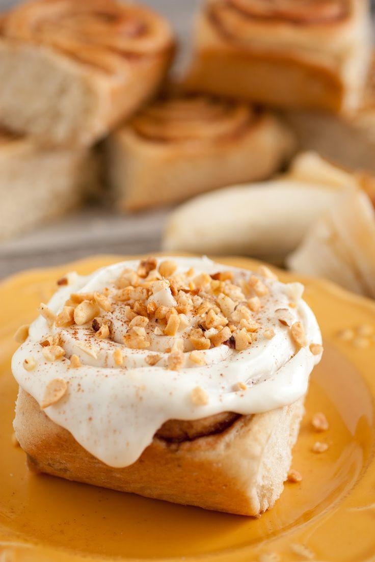 Banana Bread Cinnamon Rolls FoodBlogs.com