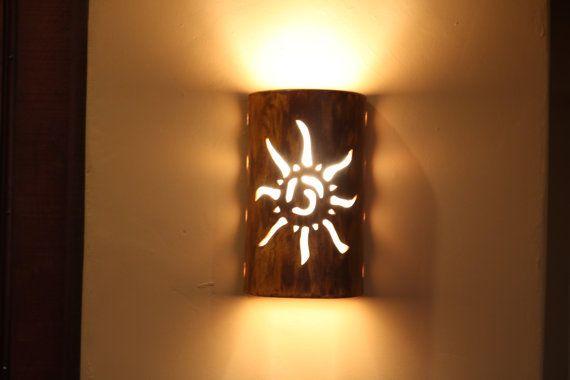 Outdoor wall sconce Southwestern Sun Indoor by CustomCutLighting