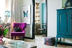 taupe teal and fuschia bedroom - Google Search