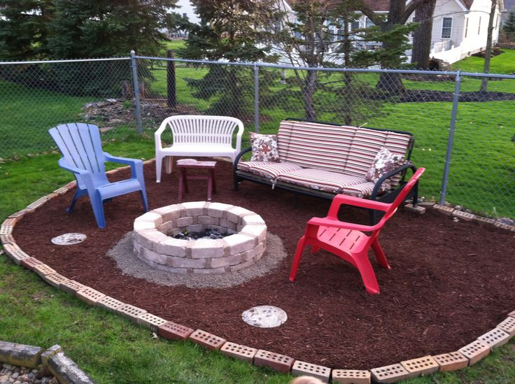 backyard fire pit cheap and easy done in one day future home