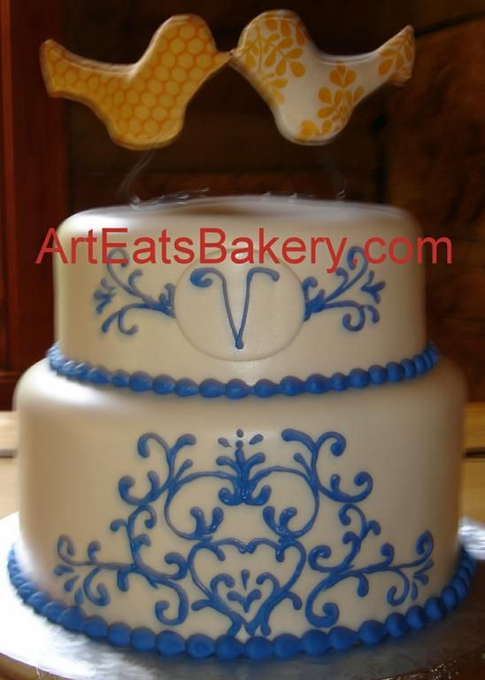 1000+ images about Blue cake on Pinterest Swirls, The ...