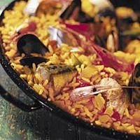 Paella med makrell -