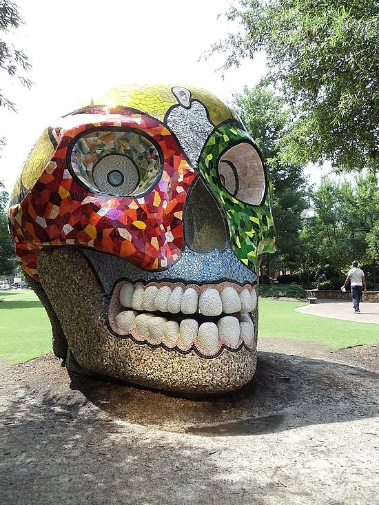 skull in downtown Charlotte NC.
