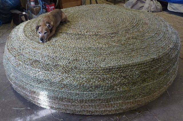 Huge 2 metre diameter pouffes comissioned by a client for a private villa