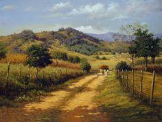 AS QUATRO ESTAÇÕES: Dicas para pintura de paisagens (José Rosário)         EDGAR WALTER - Paisagem   Óleo sobre tela - 65 x 80 - 1982   Com...
