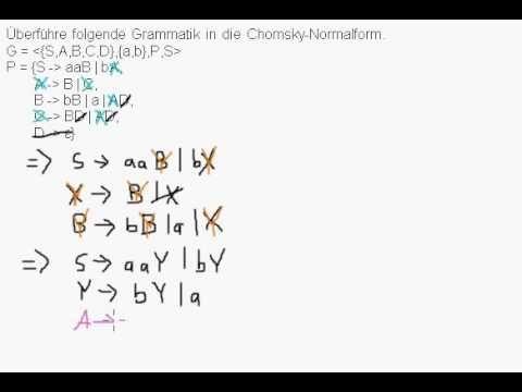 ▶ CFG in Chomsky-Normalform überführen - YouTube
