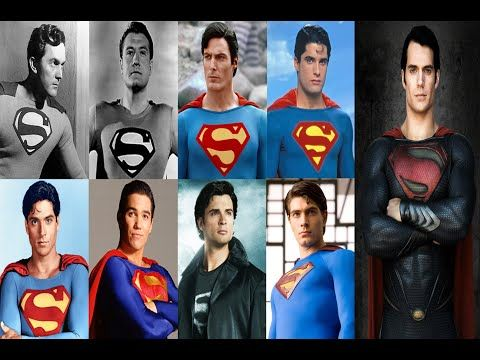 Superman Actors: 1948, 1951, 1978, 1988, 1989, 1993, 2001, 2006, 2013 - YouTube