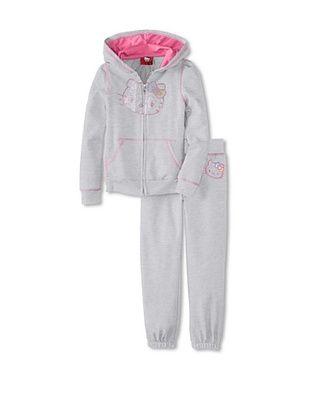 57% OFF Hello Kitty Girl's Hoodie & Sweatpant Set (Heather Grey)
