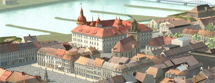 wirtualny model Miasta-Twierdzy Kostrzyn