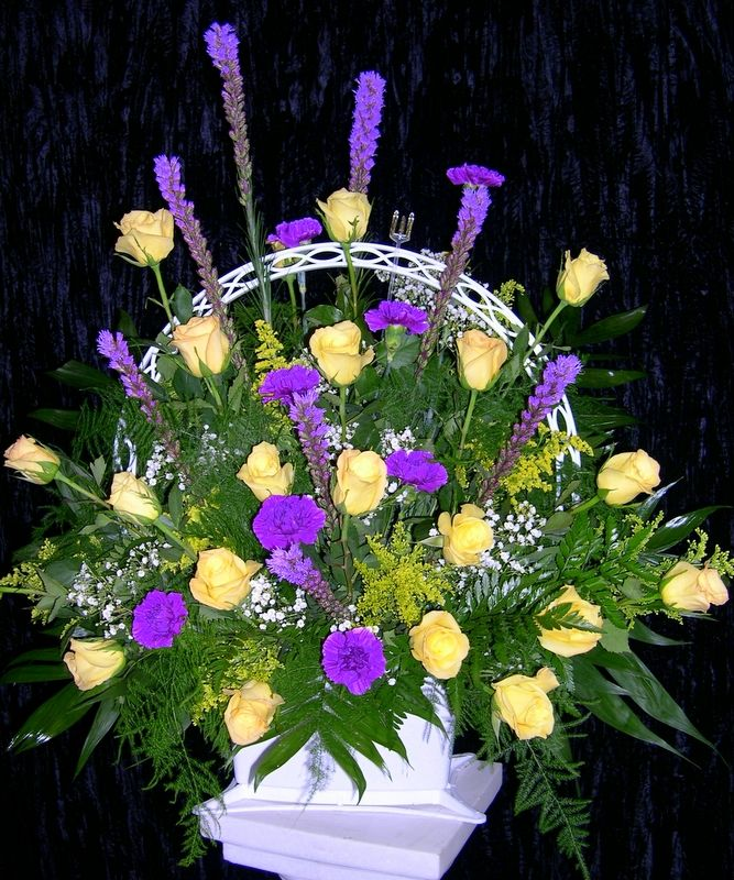 Sympathy Flower Baskets Delivery : Best images about passionate faith sympathy wreath on