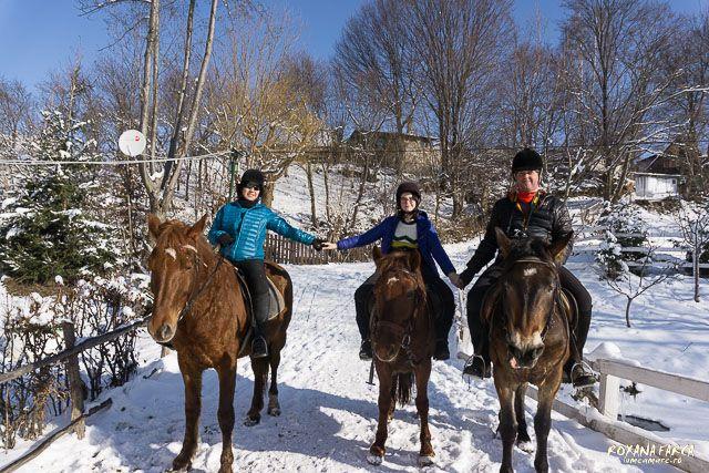 Einter ride in Tara Fagarasului, Romania, #ecoromania