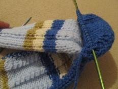 Návod na ponožky ,štrikované na dvoch ihliciach. / pletana / SAShE.sk