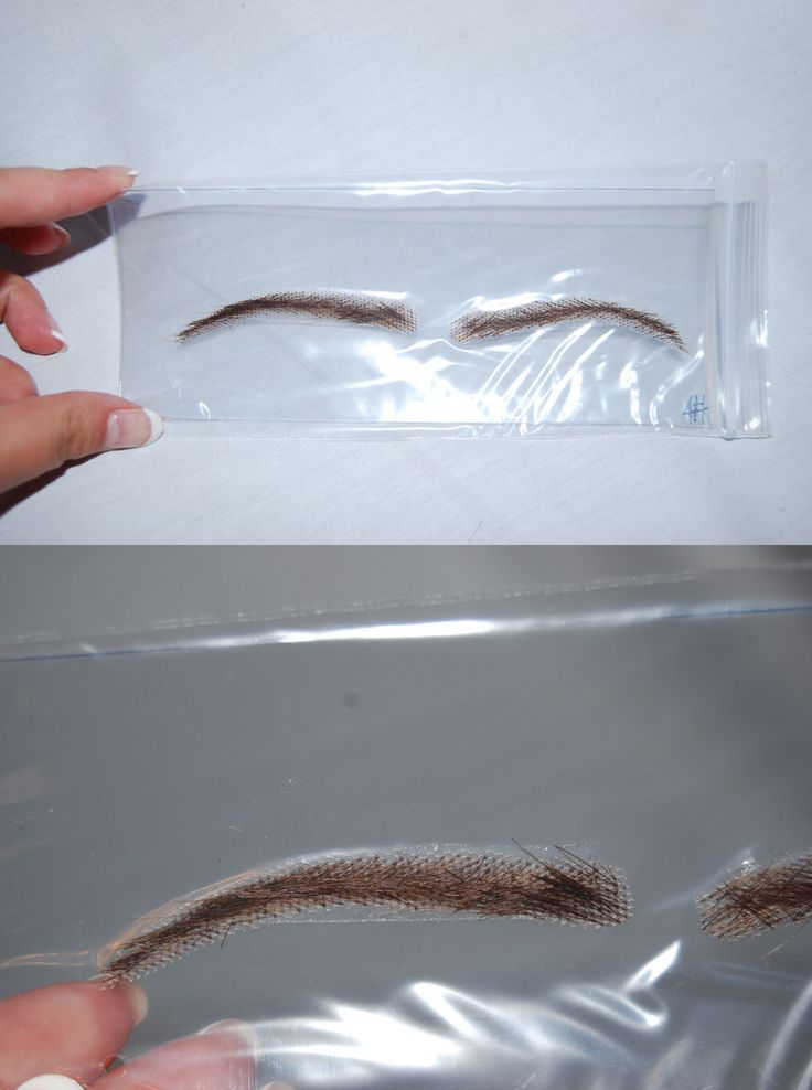 Other Makeup Tools and Accs: Lace Eyebrows Natural Look Human Hair False Eyebrow Wig Dark Brown Medium Arch BUY IT NOW ONLY: $31.49