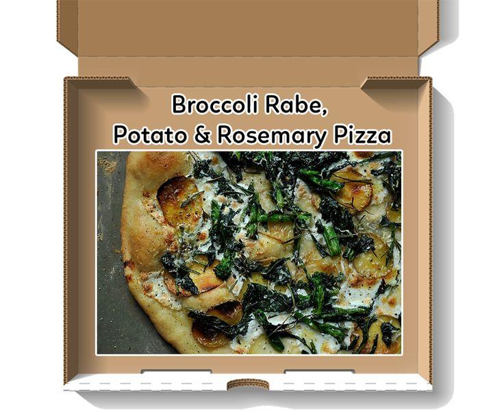 Broccoli Rabe, Potato and Rosemary Pizza www.theteelieblog.com A no ...