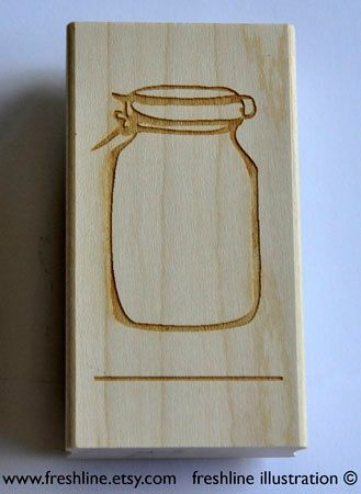 Mason Jar Stamp for Place Cards - Custom Rubber Stamp - Wedding Place Card Table Number Stamp on Etsy, $40.00