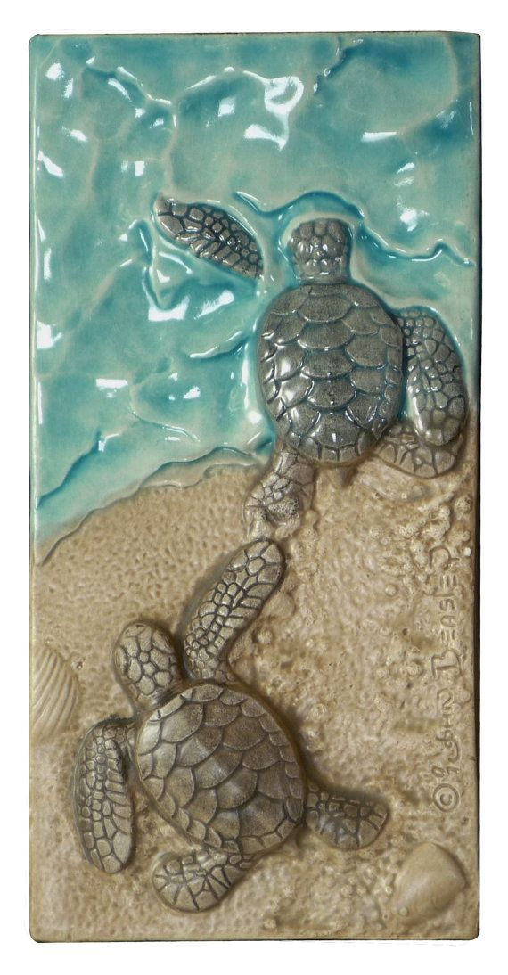 I Win is the center tile in the baby sea turtle triptych. It was recently suggested that I sell them individually so here it is.I Win shows