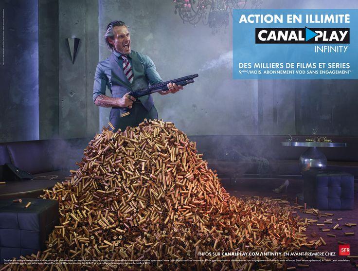 Petite campagne pour la VOD de canal+ , réalisée par BETC (euro RSCG)