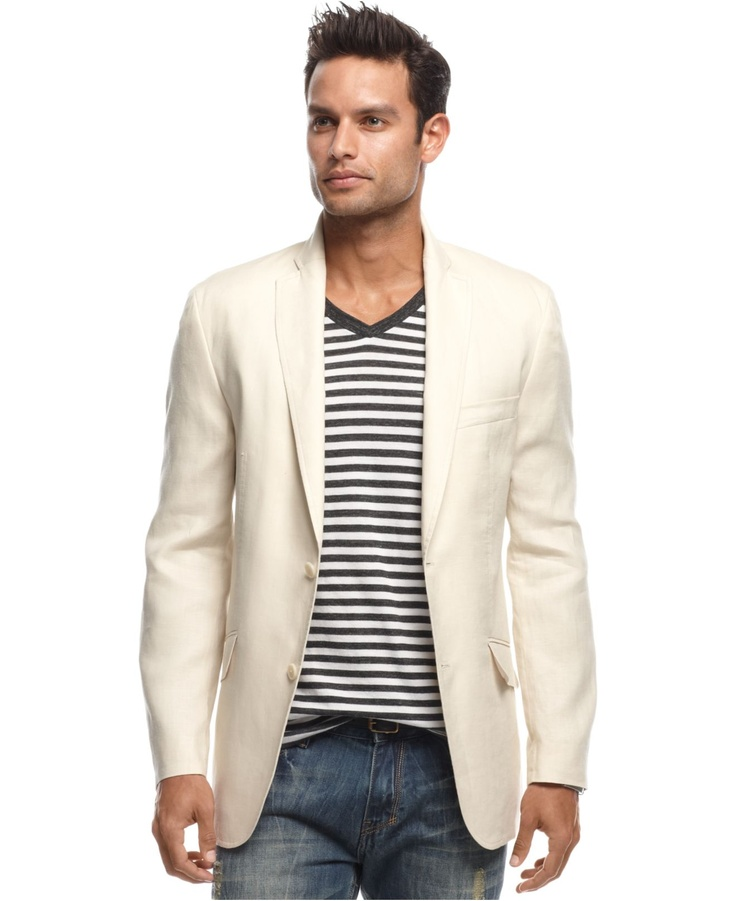 INC International Conepts Blazers, Lenny Linen Blazer - Mens Blazers & Sport Coats - Macy's
