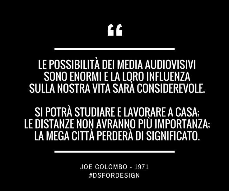 #MercoledìCreativo | #DSforDESIGN #architettura #ArchitectLab #FocusLab #smm #JoeColombo