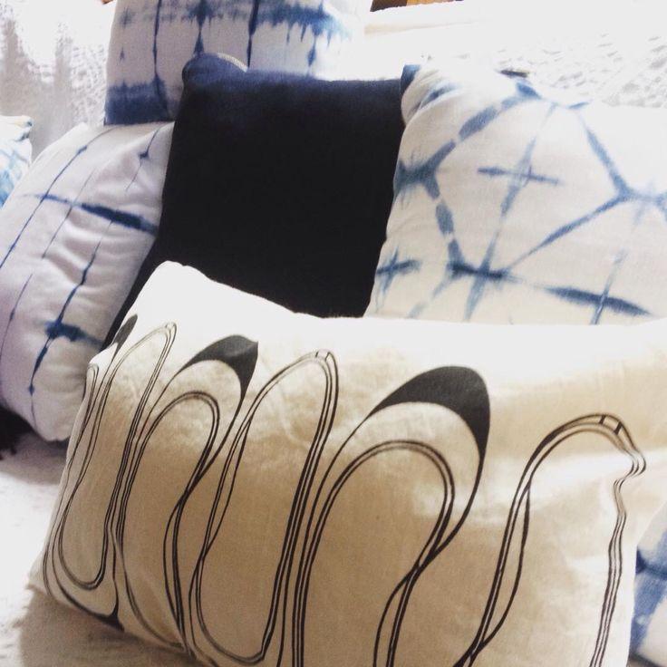 Shibori pillow & ballerina pillow screenprint