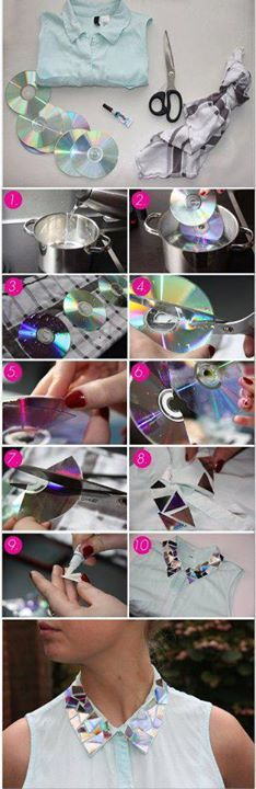To cut a CD easily.. just boil it.. and than you can make wonderful creations.