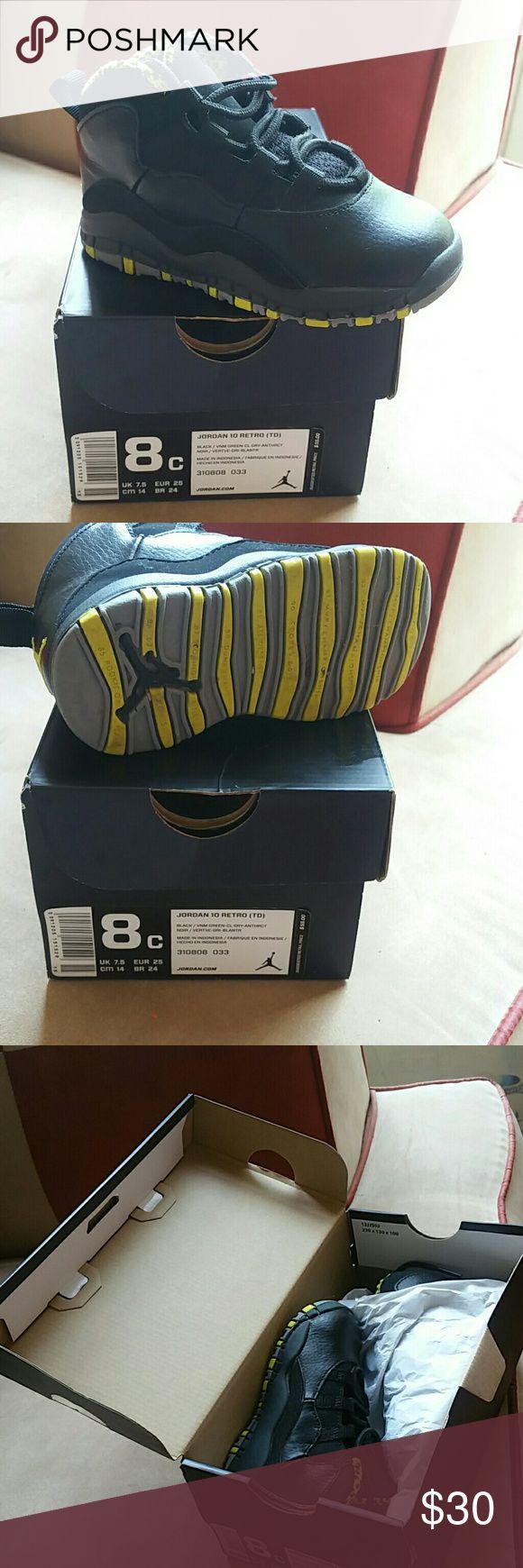 Kid's Jordan Black retro 10 Jordan Shoes Sneakers