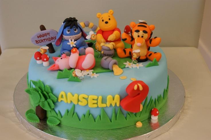 Winnie the Pooh and Friends Cake topper set