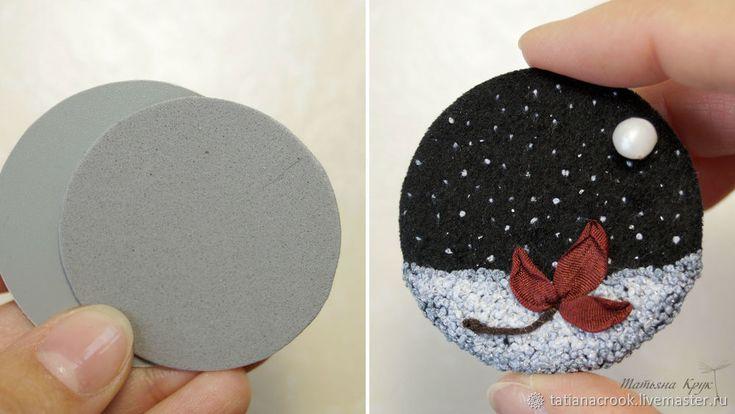 Создаем вышитую брошь «Первый снег» - Ярмарка Мастеров - ручная работа, handmade