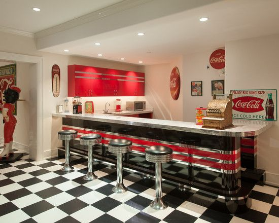 I want this kitchen!!! 50s Kitchen Decorating Ideas | Cool 50s Diner Kitchen Decor: Cool 50's Diner Kitchen Set With Unique ...
