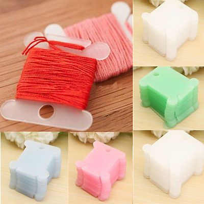 10Pcs Plastic Cross-stitch Winding Wire Board Craft 4x3cm Embroidery Accessories