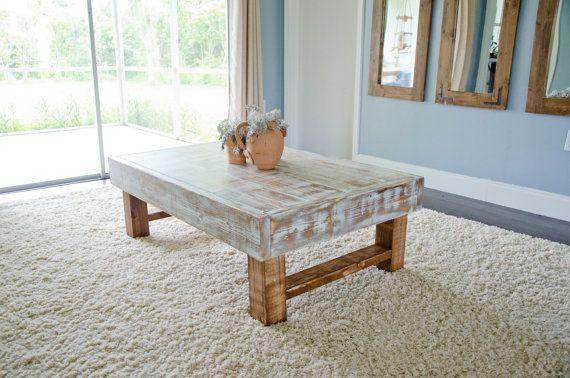 Rústica mesa de café casa de campo mesa de por ArcherHomeDesigns