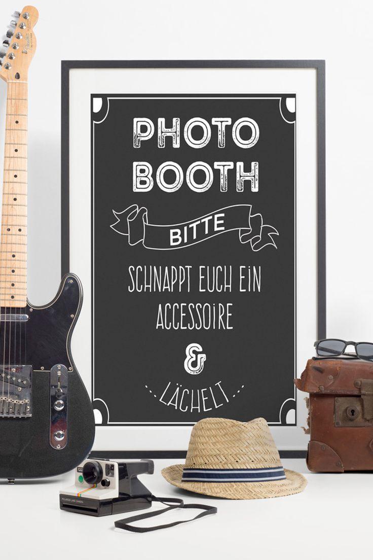 Schickes Poster im Vintagestil als Hinweis für eure Photobooth