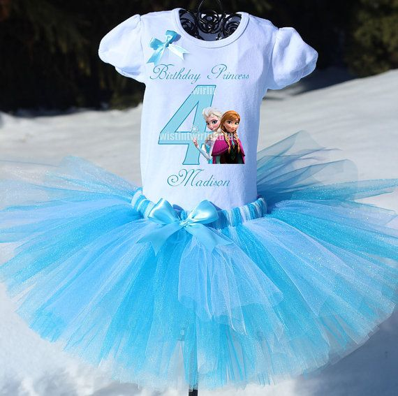 Frozen Birthday Outfit, Elsa and Anna Birthday Outfit, Princess Elsa Tutu, Blue Tutu