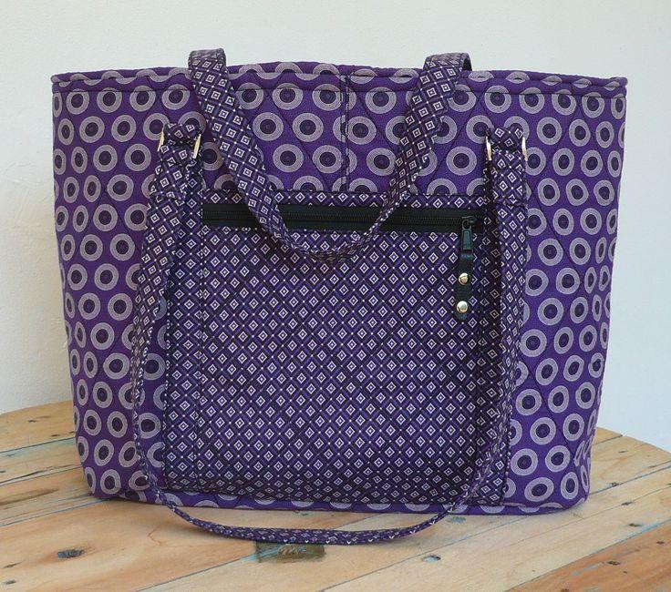 "Shweshwe Bag ""Serena"" Purple/Black/White"