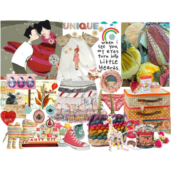 Bouncing Little Hearts by chani on Polyvore featuring Converse, Anthropologie, Decades, claire's, Belle & Boo, Abercrombie & Fitch and Elodie