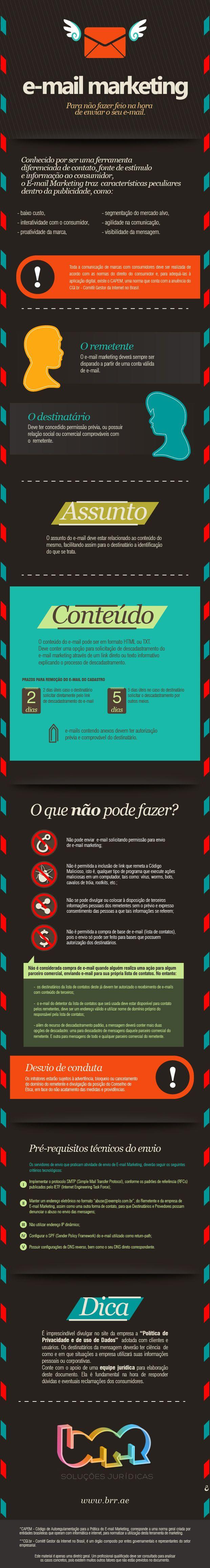 e-mail marketing - para não fazer feio! #infografico #emailmkt