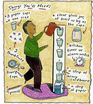 Fun Sciences: Water Clock. Try It!