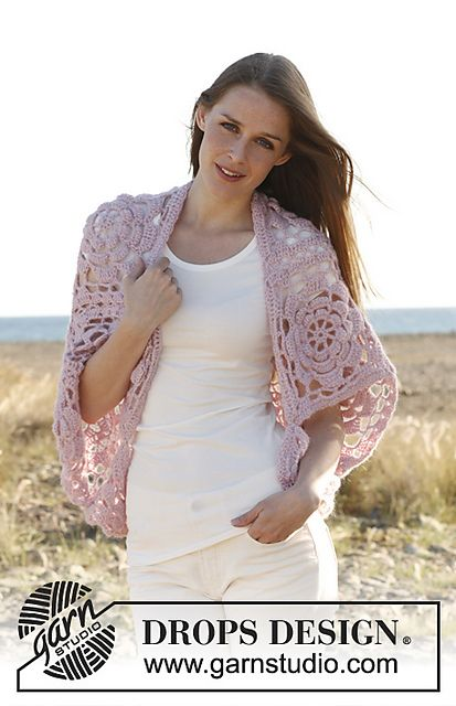 Ravelry: 148-13 Pink Dream - Bolero in Alpaca and Kid-Silk pattern by DROPS design