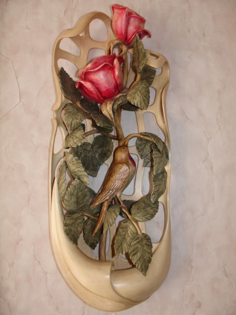 Rved wood rose art pinterest