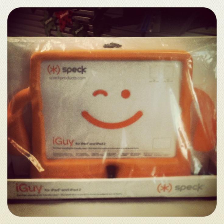 iGuy en naranja para el iPad.