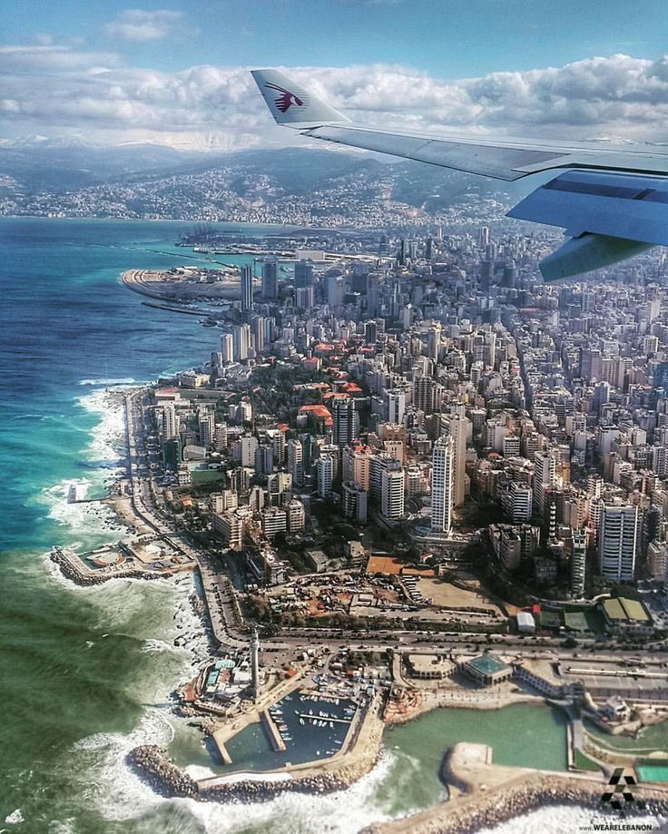 #Beirut as seen from above  By @wael.elhadi #WeAreLebanon  #Lebanon