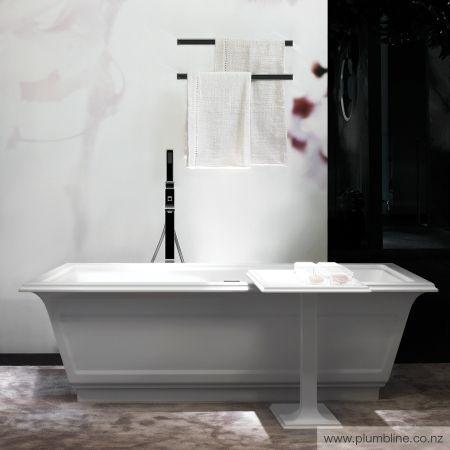 Eleganza Freestanding Bath Matt White Cristalplant - Baths - Bathroom